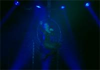 Veronica Blacklace singing On aerial hoop La Bordello Boheme